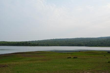 livelihood: Lake water in the crop. And source of livelihood for fishermen Stock Photo
