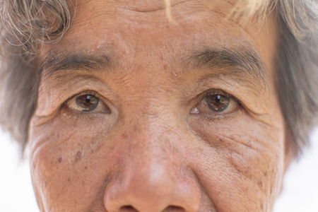 Close up eyes of old woman Foto de archivo