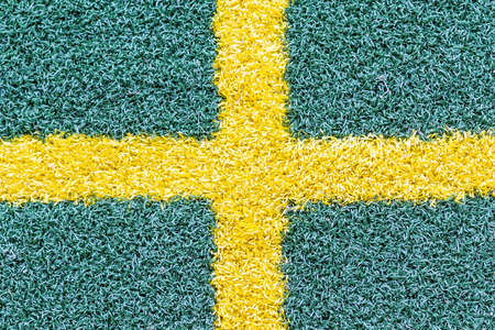 Cross on artificial turf  In practice area golf course  In Madrid   Stock Photo - 15491196