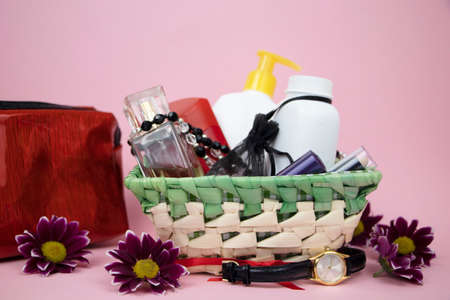 A set of cosmetics as a gift to the woman. A gift for March 8, the day of lovers or birthday