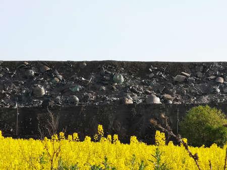 Slag dump, metallurgical slag, ash and slag waste. Waste disposal and slag-containing metallurgical wastes, residues of ferrous metallurgy