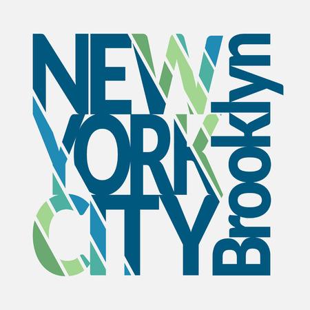 imprenta: Nueva York Tipografía Gráficos. Mans T-shirt de diseño de impresión. NY Brooklyn desgaste inicial. Diseño de Moda Imprimir para la ropa deportiva. Concepto de estilo vintage para la producción de impresión diferente. Vector