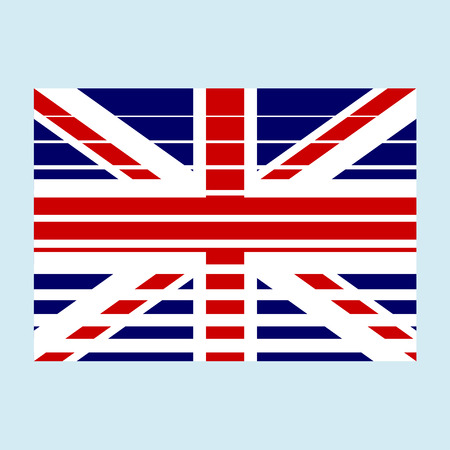 u k: National british flag of the United Kingdom of Great Britain and Northern Ireland with correct proportions and color scheme with a texture. Vector