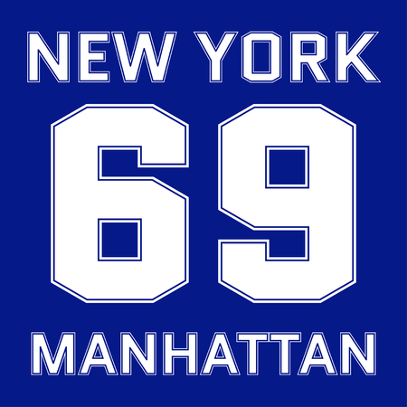 athletic wear: New York Manhattan basketball Typography. Athletic T-shirt fashion graphics. Design Print for sportswear apparel. NYC original wear. Vector illustration