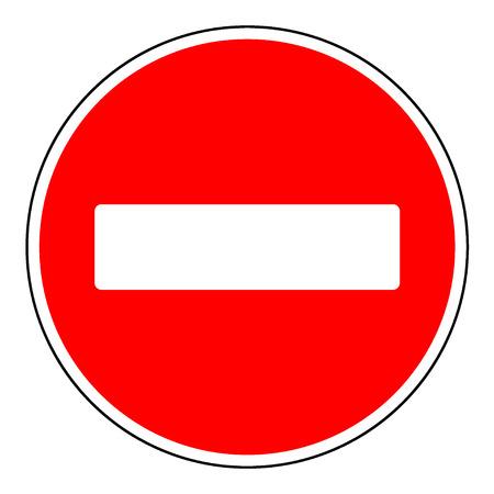 Voer geen leeg bord. Waarschuwing rode cirkel icoon op een witte achtergrond. Verbod concept. Geen verkeer straat symbool. vector illustratie Stockfoto - 49482732