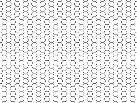 speaker grille: Grid seamless pattern. Hexagonal cell texture. Honeycomb on white background. Speaker grille. Fashion geometric design. Graphic style for wallpaper, wrapping, fabric, apparel, print production. Vector