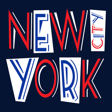 vintage fashion: New York city Typography Graphics. Fashion stylish printing design for sportswear apparel. NYC original wear. Concept in vintage graphic style for different print production. Vector illustration