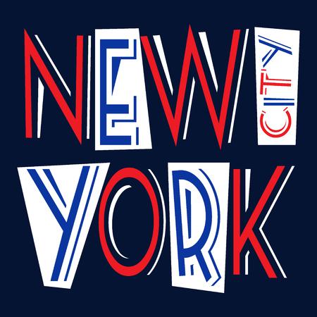 imprenta: Nueva York Gr�ficos ciudad tipograf�a. dise�o de la impresi�n elegante de la moda para la ropa deportiva. NYC desgaste inicial. Concepto de estilo vintage para la producci�n de impresi�n diferente. ilustraci�n vectorial