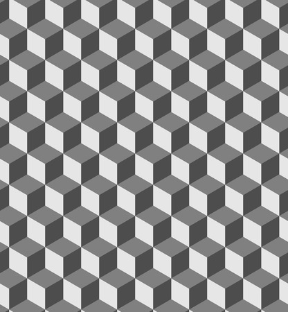 Seamless geometric volume pattern. Fashion graphics background design. Optical illusion 3D cube shapes. Modern stylish texture for prints, textiles, wrapping, wallpaper, website, blogs etc. VECTOR