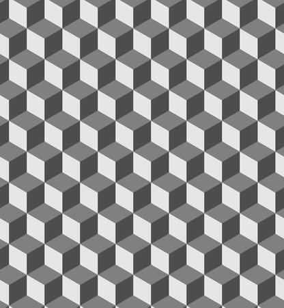 cubo: patrón de volumen geométrico transparente. Moda y gráfica de diseño de fondo. ilusión óptica formas de cubo 3D. Textura con estilo moderno para las impresiones, textiles, envoltura, papel tapiz, página web, blogs, etc vector