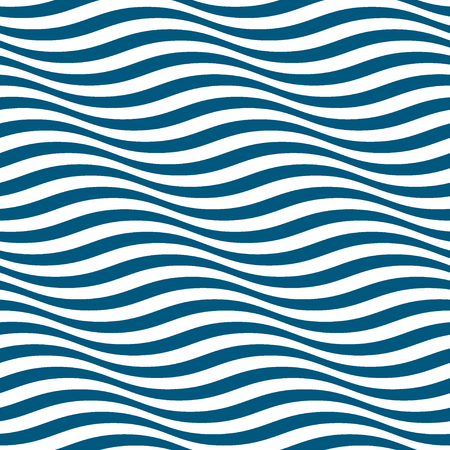 rayas onduladas sin patrón. la moda azul abstracto y diseño de ola blanca. la textura de la onda geométrica. estilo gráfico para el papel pintado, envoltura, tela, fondo, ropa, otra producción de impresión. Vector
