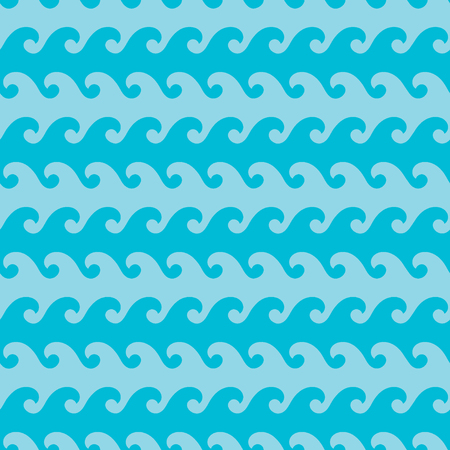 ocean wave: Seamless wave patterns. Fashion graphics design. Abstract marine in ocean colors. Suitable for fabric or background design. Graphic style for wallpaper, apparel and other print production. Vector