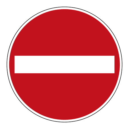 rules of road: Do not enter blank sign. Illustration