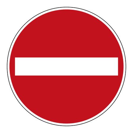 Do not enter blank sign. Illustration