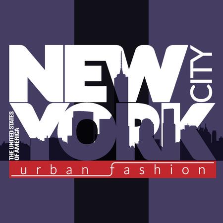 Nueva York Gráficos ciudad tipografía.