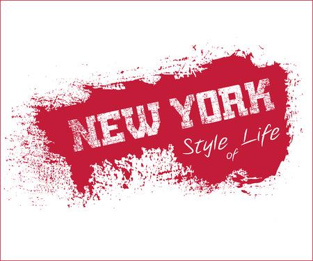 athletic wear: New York city Typography Graphics.
