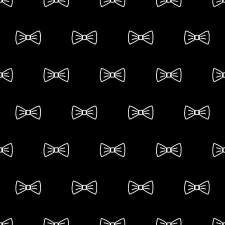 Pajarita patrón transparente. Ilustración de vector