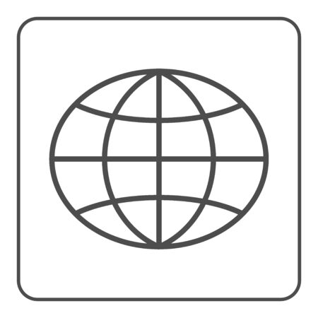 Earth Globe Icon Global World Sign Symbol Of Network Planet