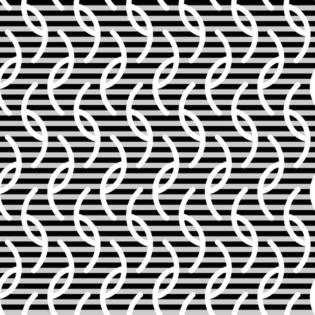 wavy fabric: Wavy stripes and lines seamless pattern. Abstract fashion texture. Geometric monochrome template. Graphic style for wallpaper, wrapping, fabric, background design, apparel, print production. Vector Illustration