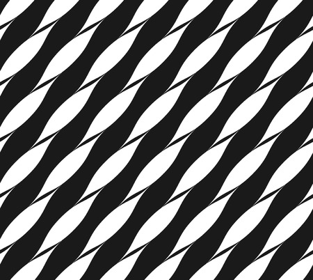 twisted: Ribbon seamless pattern. Fashion graphics background design. Modern abstract stylish texture for wrapping, wallpaper, textiles etc. Line and stripe ornament. Geometric repeat print VECTOR Illustration