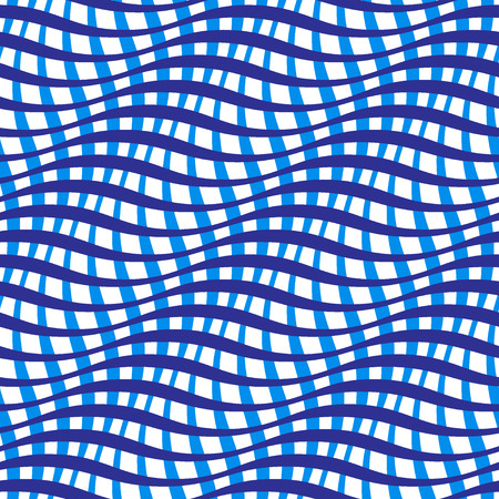 wavy fabric: Wavy crossed stripes seamless pattern 3D. Abstract fashion texture. Geometric color template. Graphic style for wallpaper, wrapping, fabric, background, apparel, prints, website etc. Vector