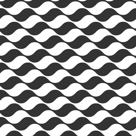ocean wave: Wavy stripes seamless pattern. Abstract fashion wave line design. Geometric texture. Graphic style for wallpaper, wrapping, fabric, background, apparel, other print production. Vector illustration Illustration