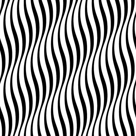 Wavy stripes seamless pattern 3D. Abstract fashion volume texture. Geometric monochrome template. Graphic style for wallpaper, wrapping, fabric, background design, apparel, print production. Vector