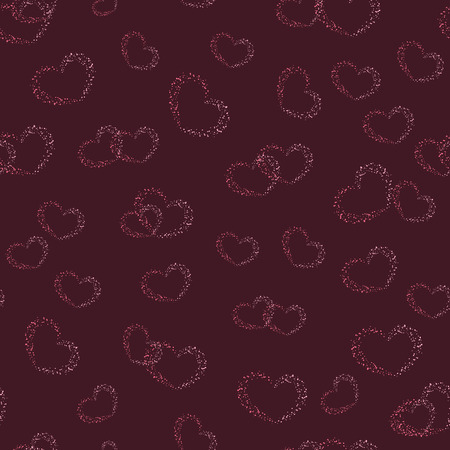 vinous: Grunge hearts seamless pattern on vinous background. Stylish romantic concept. Texture for web, print, valentines day, wrapping paper, wedding invitation card, textile, fabric, home decor, gift paper