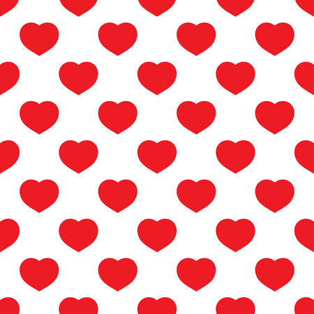 red wallpaper: Red hearts seamless pattern on white background. Fashion love graphics design. Modern stylish texture. Valentine day print concept. Template for fabric, background, wallpaper, etc. illustration Stock Photo