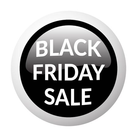 volume discount: Black round sale button on white background. Volume discount button. Icon for black friday. Discount banner. Christmas sale. Glass effect. Sale design template with advertising message.