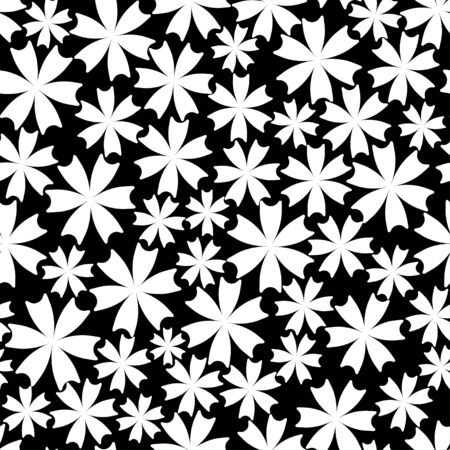 flower ornament: Seamless pattern from flower ornament. Fashionable modern Graphics style. Texture for website, blogs, wallpaper, wrapping, fabric, apparel, textiles. White volume flowers on white background.