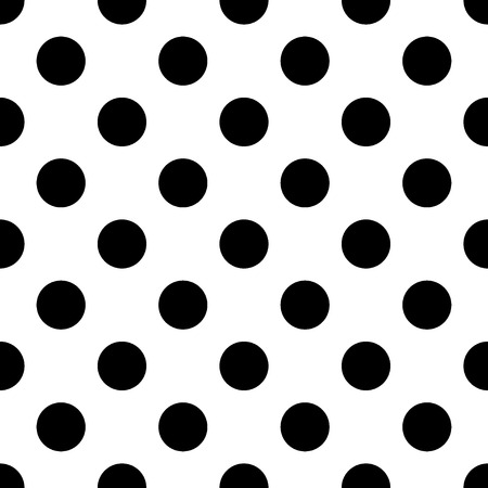 Big Polka Dot seamless pattern. Abstract fashion black and white texture. Monochrome template. Graphic style for wallpaper, wrapping, fabric, background, apparel, print production, etc.