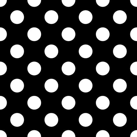 大きな水玉のシームレスなパターン。抽象的なファッション黒と白のテクスチャです。モノクロのテンプレートです。壁紙、ラッピング、ファブリ 写真素材