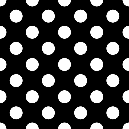 dots pattern: Big Polka Dot seamless pattern. Abstract fashion black and white texture. Monochrome template. Graphic style for wallpaper, wrapping, fabric, background, apparel, print production, etc.