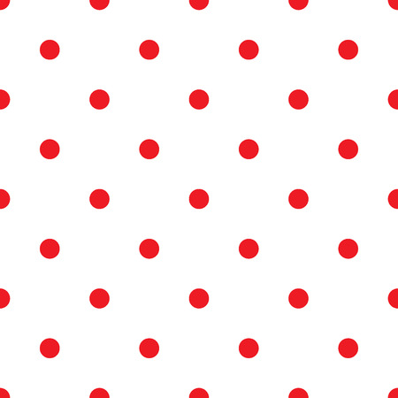 red wallpaper: Small Polka Dot seamless pattern. Abstract fashion red and white texture. Casual stylish template. Graphic style for wallpaper, wrapping, fabric, background, apparel, print production, etc. Stock Photo