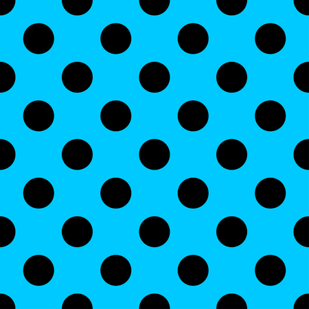 polka dot fabric: Big Polka Dot seamless pattern. Abstract fashion blue and black texture. Casual stylish template. Graphic style for wallpaper, wrapping, fabric, background, apparel, print production, etc. Stock Photo