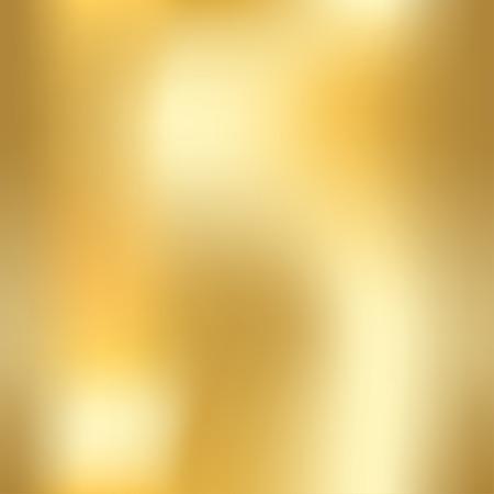 Or texture seamless. Lumière réaliste, brillant, métallique vide or modèle de gradient. décoration en métal abstrait. Conception pour papier peint, fond, emballage, tissu, etc. Vector Illustration.
