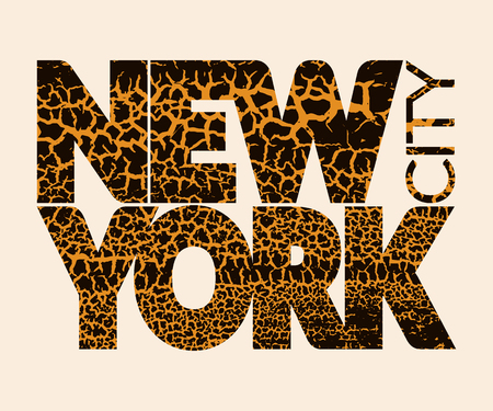 craquelure: New York city Typography Graphic. Skyline Manhattan. Fashion stylish retro design. Craquelure for t shirt and sports wear. NYC logo. Label USA. Vintage print apparel, card, poster. Vector illustration Illustration