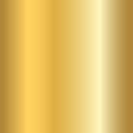 Patrón transparente de textura de oro. Luz realista, brillante, metálico vacío plantilla de degradado de oro. Decoración abstracta de metal. Diseño para fondo de pantalla, fondo, envoltura, tela, etc. Ilustración del vector.