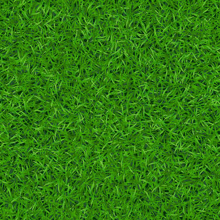Green grass seamless pattern. Background lawn nature. Abstract field texture. Symbol of summer, plant, eco and natural, growth. Meadow design for card, wallpaper, wrapping, textile Vector Illustration Çizim