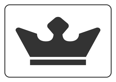 authority: Crown icon. Black shape sign isolated on white background. Symbol of king, luxury, queen, leader success, throne, authority, nobility. Design decoration. Flat modern graphic style. Vector illustration