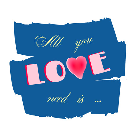 Fabulous All You Need Is Love Lettering. Hand Written All You Need Is  YV47