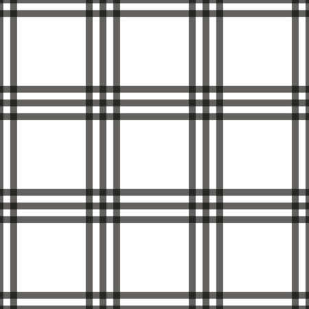 gray strip backdrop: Tartan seamless pattern. Checkered geometric texture plaid. Fashion traditional scottish design. Classic british template wallpaper, wrapping, fabric or textile, material, flannel. Vector Illustration