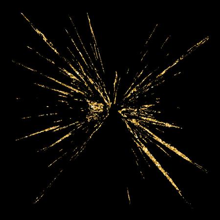 produits céréaliers: Brisé or trou de verre grunge texture et noir. Dessinez abstraite pour créer un effet de détresse. détresse Overlay conception du grain d'or. fond moderne élégant pour les produits d'impression. Vector illustration Illustration