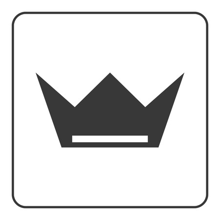 nobility: Crown icon. Black shape sign isolated on white background. Symbol of king, luxury, queen, leader success, throne, authority, nobility. Design decoration. Flat modern graphic style. Vector illustration
