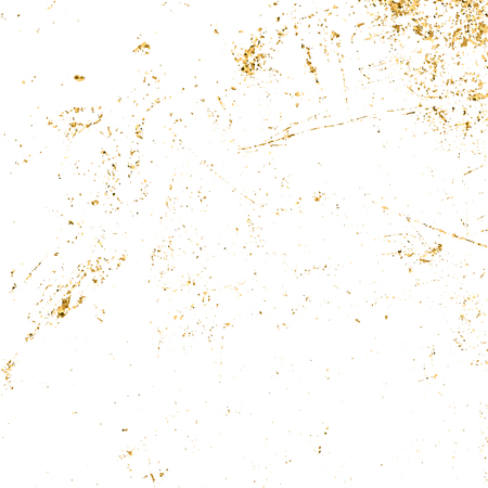 Gold grunge texture. Patina scratch golden elements. Sketch texture to create distressed effect. Overlay distress grain graphic design. Stylish modern dirty background decoration. Vector illustration