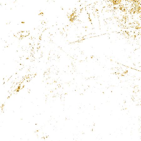 Goud grunge textuur. Patina kras gouden elementen. Schets textuur aan noodlijdende effect te creëren. Overlay nood graan grafisch ontwerp. Modieuze moderne vuile achtergrond decoratie. vector illustratie Stockfoto - 58734580
