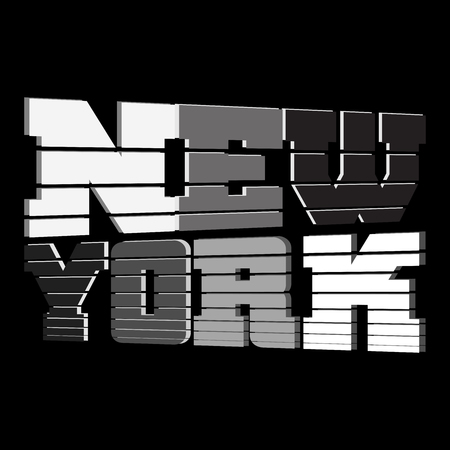 jersey city: T shirt typography graphics New York. Athletic style NYC. Fashion stylish print for sports wear. Black and white emblem. Template for apparel, card, label, poster. Symbol big city. Vector illustration