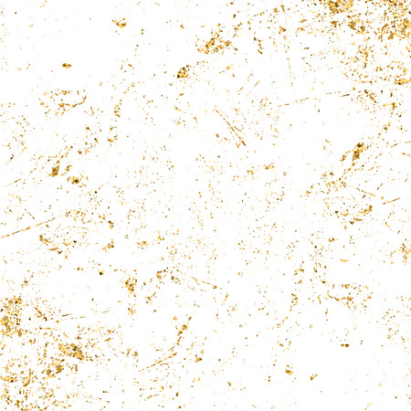 Gold grunge texture. Patina scratch golden elements. Sketch texture to create distressed effect. Overlay distress grain graphic design. Stylish modern dirty background decoration. Illusztráció