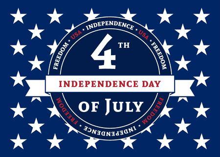 American flag element, symbol for 4th of July, Independence Day celebration. Patriotic Typography Graphics. National design. Fashion Print sportswear apparel, t shirt, card, banner illustration Ilustração